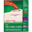 Avery® 5066 Red Permanent File Folder Labels with TrueBlock, 1,500/Pack
