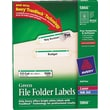 Avery® 5866 Green Permanent File Folder Labels with TrueBlock™, 1,500/Pack