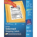 Avery® 8126 White Inkjet Internet Shipping Labels with TrueBlock, 5-1/2in. x 8-1/2in., 50/Box