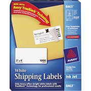 Avery® White Inkjet Shipping Labels with TrueBlock™