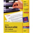 Avery 6467 Removable Inkjet/Laser Labels, 1/2in. x 1-3/4in., 2,000/Pack