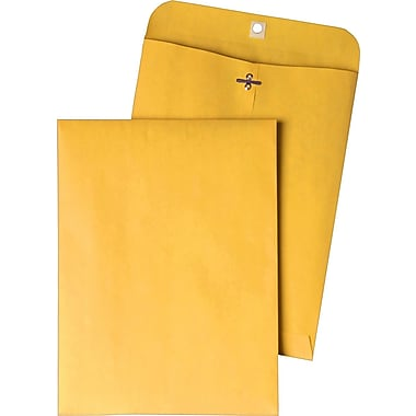 Quality Park 10in. x 15in. Brown Kraft Extra-Heavyweight Clasp Envelopes, 100/Box