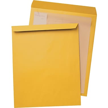 Staples® Brown Kraft Ungummed Jumbo Catalog Envelopes
