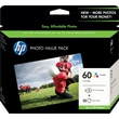 HP 60 Tricolor Photo Value Pack (CG845AN)