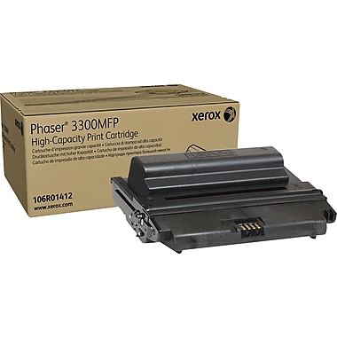 Xerox Phaser 3300MFP Black Toner Cartridge (106R01412), High Yield