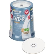 Memorex Inkjet Printable DVD-R, 4.7GB, 1/Pk