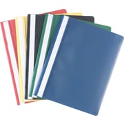 Staples® Clear-Front Report Covers, 5/Pk Assorted Colors