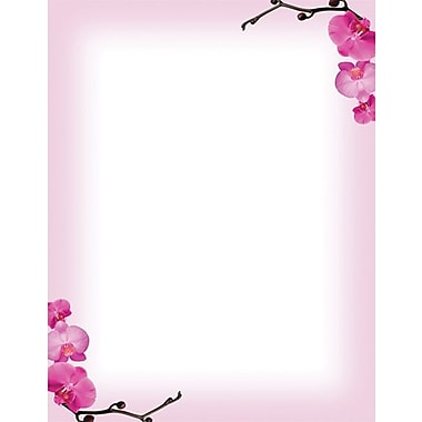Pink Orchid Stationery Set