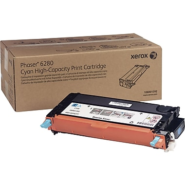 Xerox Phaser 6280 Cyan Toner Cartridge (106R01392), High Yield