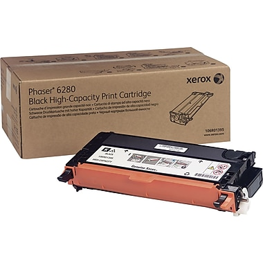 Xerox Phaser 6280 Black Toner Cartridge (106R01395), High Yield