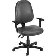 OFM Anti-Bacterial Vinyl Posture Task Chair, Charcoal