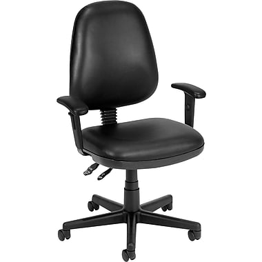 OFM Anti-Bacterial Vinyl Posture Task Chair, Black