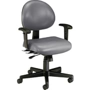 OFM 24-Hour Multi-Shift Anti-Bacterial Vinyl Task Chair, Charcoal