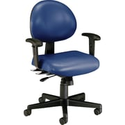 OFM 24-Hour Multi-Shift Anti-Bacterial Vinyl Task Chair, Navy