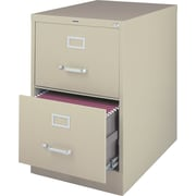 Staples® Vertical File Cabinet, 26-1/2, 2- Drawer, Legal Size, Putty