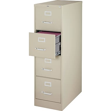 Staples 4-Drawer Letter Size Vertical File Cabinet, Putty (26.5-Inch)