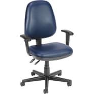 OFM Anti-Bacterial Vinyl Posture Task Chair, Navy