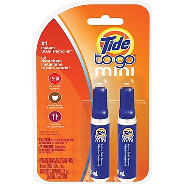 Tide To Go Instant Stain Remover Pens, 2-Pack