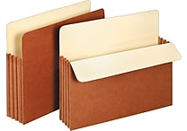 Staples Expanding File Pockets, 3 1/2' Expansion, Letter, 25/Pack