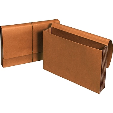 Staples® Expanding Wallets with Tear-Resistant Tyvek® Gussets, Legal, 5 1/4