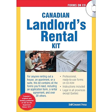 Self-Counsel Press – Trousse de location du propriétaire canadien, anglais