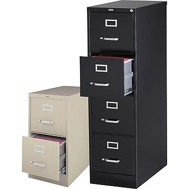 Staples 26-1/2in. Deep Commercial Vertical File Cabinets, Letter Size