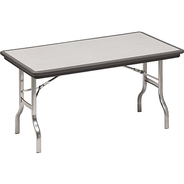 Iceberg 6' Indestruc-Tables™ Folding Table, Charcoal