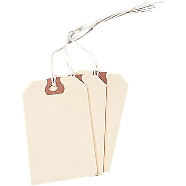 Avery® General Purpose Manila Tags, Pre-strung, 4-3/4in. x 2-3/8in.