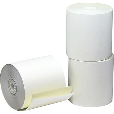 ICONEX/NCR Paper Roll, 2 Ply, Carbonless, 3
