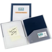Avery(R) Flexi-View(TM) Two-Pocket Folder 47846, Navy Blue, Pack of 2