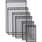 """Staples® Heavyweight Vinyl Top Loading Workorder Protecting Pockets, Clear, 9"""" x 12"""", 25/Box"""