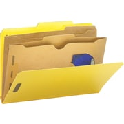 Smead Yellow Classification Folders with Pocket Dividers, LEGAL-size Holds 8 1/2 x 14, Box of 10