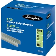 "Swingline® Heavy Duty Staples, 1/2"" Leg Length, 5,000/Bx"