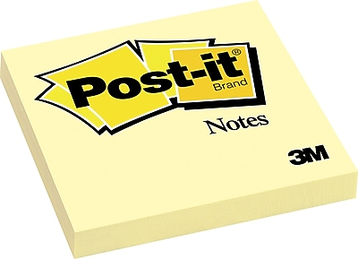 Post it Notes 3 x 3 Canary Yellow 1 Pk