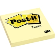 "Post-it® Notes, 3"" x 3"", Canary Yellow, 1/Pk"
