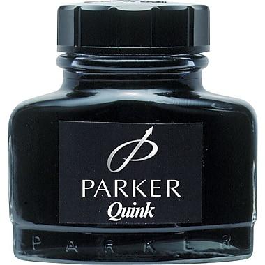 Parker Super Quink Permanent Ink for Parker Pens, 2-oz. Bottle, Black