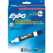 Expo® Low Odor Dry-Erase Markers, Chisel Tip, Assorted, 8/pk (80678)