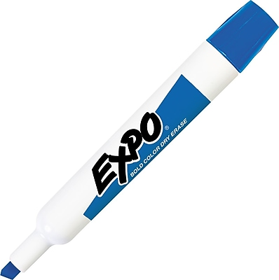 Sanford Expo Original Dry Erase Markers Chisel Tip Blue