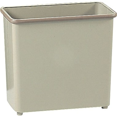 Safco 27 1/2-Quart Rectangular Fire-Safe Wastebasket, Sand