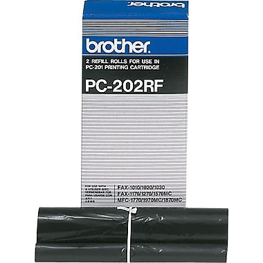 Brother PC202RF Fax Ribbon Refill Roll, Dual Pack