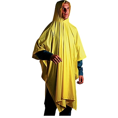 Unisan Disposable Rain Poncho, Yellow, 52in. x 80in.