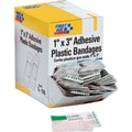 First Aid Only® Plastic Adhesive Refill Bandages 1in. x 3in.