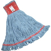 "Rubbermaid® FGA15306 Web Foot Wet Mop, Large, 5"" Headband, Blue"