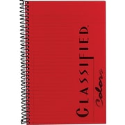 "TOPS® Classified™ Colors Business Wirebound Notebook, College Ruled, Ruby, 8 1/2"" x 5 1/2"""