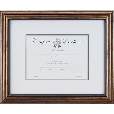 Staples® Plastic Frame with Antique Bronze Finish, 8 1/2in. x 11in.