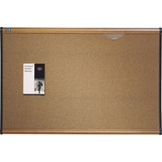 Quartet® Prestige® Colored Cork Bulletin Board, Maple Finish Frame, 6'W x 4'H