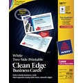 Avery Clean Edge Two-Side Printable  Laser Business Cards, Ivory, 200/Cards
