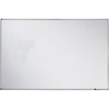 Quartet® 4'(H) x 6'(W) Porcelain On Steel Magnetic Whiteboard, Silver Frame