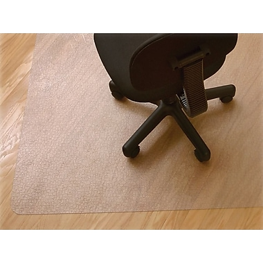 Advantus RecyClear Chair Mats for Hard Floors, Standard Lip, 45in.x53in.