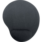 Staples Mouse Pad with Wrist Rest, Black